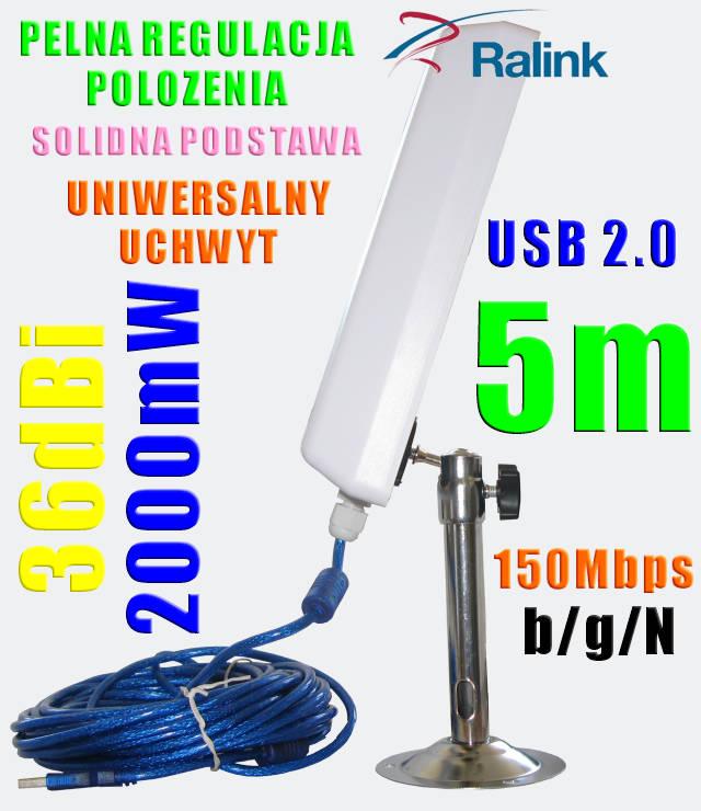 Antena Aktywna Wifi Sky 5m Usb Internet Do 10km Internetowy Sklep Easy Wifi