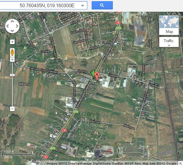 Podgląd z satelity w czasie rzeczywistym